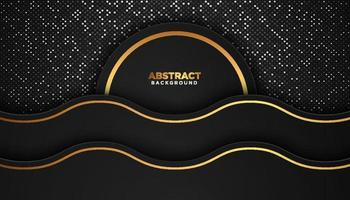 Black abstract geometric background with glitters dots element decoration Luxury design concept vector