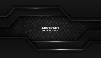 Fondo geométrico abstracto negro con brillos puntos decoración de elementos concepto de diseño de lujo vector