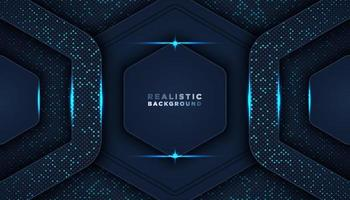 Dark abstract background with overlap layers Luxury design concept vector