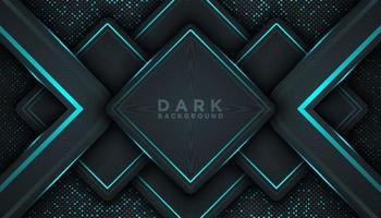 Fondo abstracto oscuro con capas superpuestas concepto de diseño de lujo vector