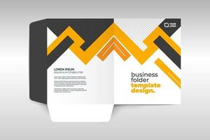 Elegant corporate folder template vector