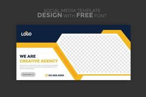 Post Template Digital Business Marketing Social Media Banner and square flyer poster Editable Promotion corporate Web Banner Stories Ads vector
