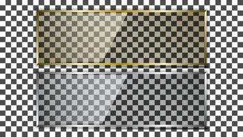 Glass transparent plate vector