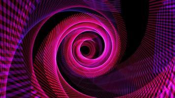 espiral de malla de alambre de neón rosa azul púrpura giratorio giratorio sin fin video