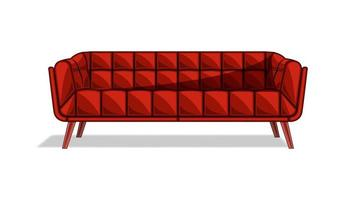 Couch sofa isolated cartoon style vector