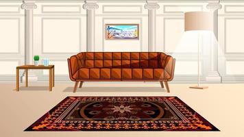 estilo de dibujos animados de la sala de estar vector