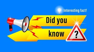 Interesting fact megaphone 3d vector