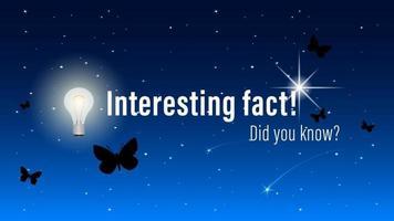 inscripción de hecho interesante ¿sabías? vector