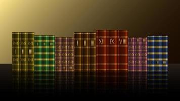 Stack books volume realistic vector