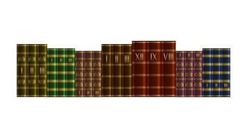 Stack books isolated realistic style vector