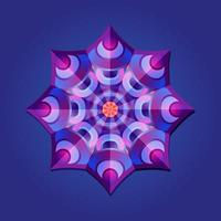 This is violet a geometric polygonal mandala in the form of a star vector