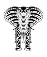 Elephant isolated front view vector