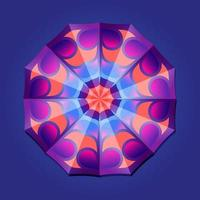 This is a violet geometric polygonal mandala with a bright center vector