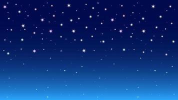 fondo de cielo estrellado colorido de la noche vector