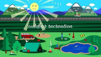 outdoor recreation flat background