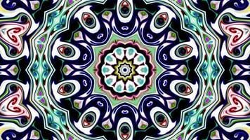 Multicolored Kaleidoscope Motion Graphics Background video