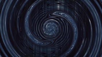 círculos de torsión psicodélicos azul oscuro abstracción giratoria video