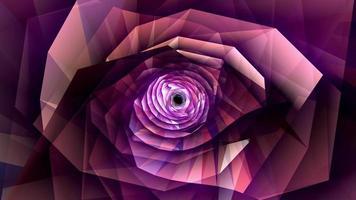 Cyber lila Blume flackern Licht Rotationsschleife video