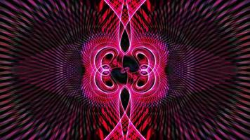 animation de boucle de motifs de wiremesh séquence kaléidoscope psychédélique multicolore video