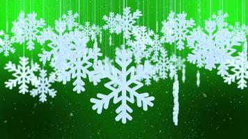 Festive Winter Snowflake Scene Background video