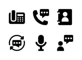 Simple Set of Communication Related Vector Solid Icons
