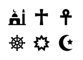 Simple Set of Religion Related Vector Line Icons