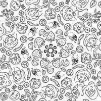Doodle actividad diaria de los niños vector