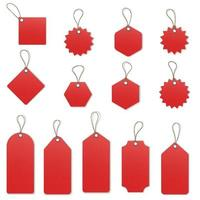 Price tags on white background vector