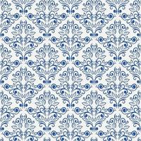 floral blue seamless pattern vector