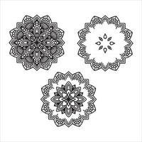 Flower Mandala Elements vector