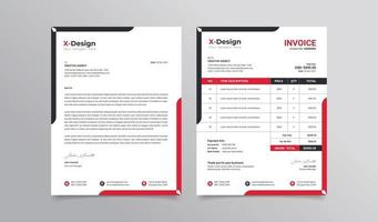 Corporate business letterhead and invoice template vector