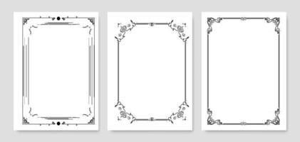 Ornamental Frame Set vector