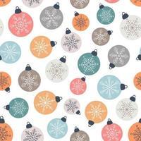 Christmas balls seamless pattern vector