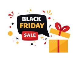 promoción de venta de viernes negro vector