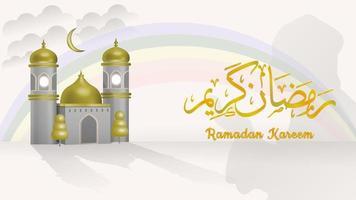 3d vector Ramadan Kareem background
