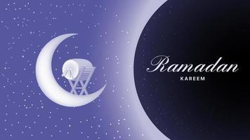 3d ramadan kareem background vector