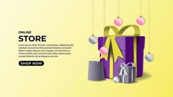Background online store design vector
