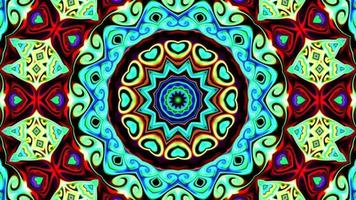 graphiques animés et arrière-plan animé avec séquence kaléidoscope video