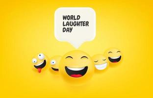Laughing faces with speech bubble vector