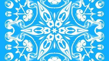 kaléidoscope animé d'animations bleues et blanches video