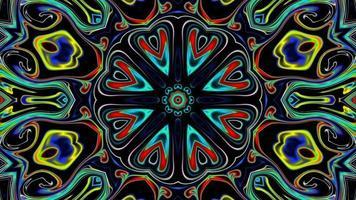 Motion Graphics fond animé avec séquence kaléidoscope video