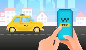 Taxi service concept Mobile application vector