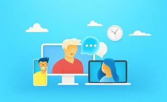 Online dialog via internet vector