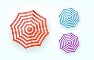 Color umbrellas top view vector