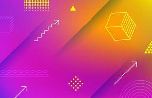 Abstract vivid geometric background with geometric elements vector