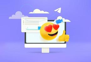 Using modern social media vector