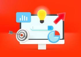 Business optimization concept vector