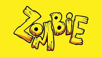 Zombie Typography Art vector
