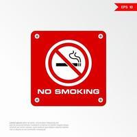 No smoking sign labels vector