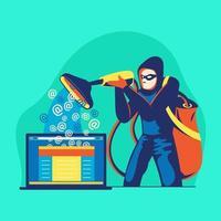 hacker phishing estafa ataque web seguridad vector concepto de phishing y fraude